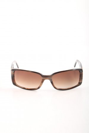 Chanel eckige Sonnenbrille braun Leomuster Business-Look