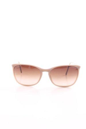 Chanel Occhiale da sole spigoloso color carne stile professionale