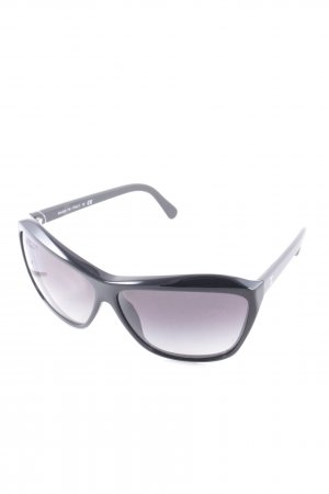 Chanel eckige Sonnenbrille schwarz Casual-Look