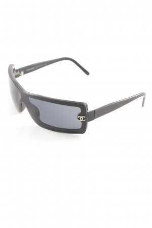 Chanel Angular Shaped Sunglasses black casual look