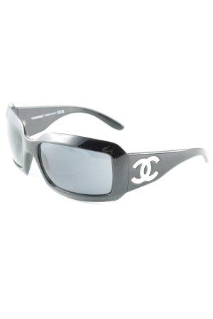 Chanel Occhiale da sole spigoloso nero stile da moda di strada