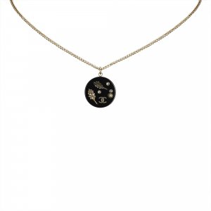 Chanel Enamel Pendant Necklace