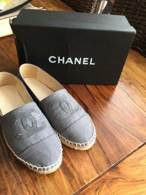 Chanel Espadrilles 40 / (39) Leder Taupe