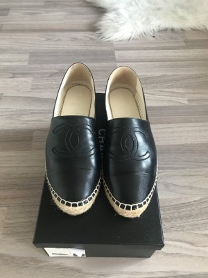 Chanel Espadrille sandalen zwart