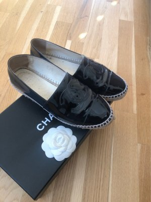Chanel Espadrille Sandals black