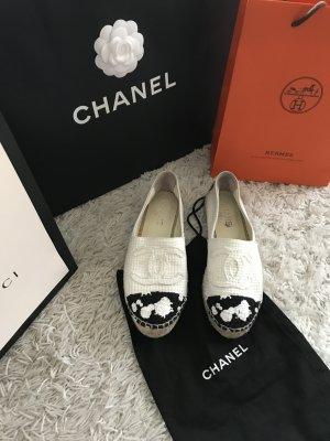 Chanel Espadrilles Canvas Top CC Logo Slipper Mules