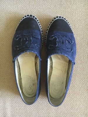CHANEL Espadrilles denim Gr. 40 blau