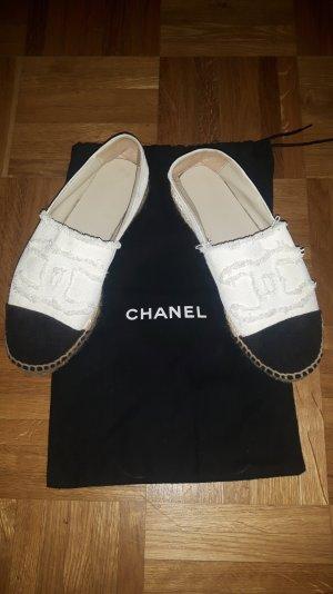 Chanel Espadrilles in schwarz/weiß