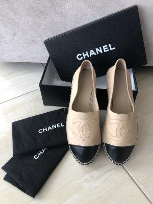 Chanel Espadrille Sandals nude-black