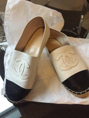 Chanel Espadrille Sandals black-white