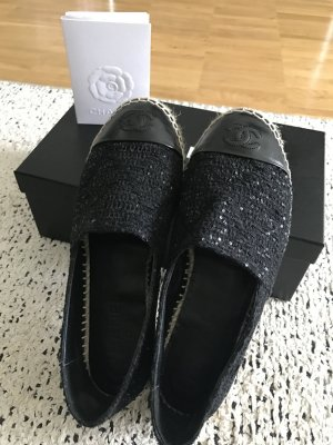 Chanel Espandrilles Tweed black Gr.37