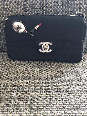 Chanel Bandolera negro-color plata