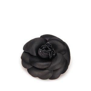 Chanel Brooch black mixture fibre