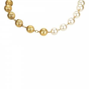 Chanel Faux Pearl and Metal Necklace