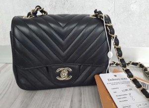 Chanel Handtas zwart-zilver Leer