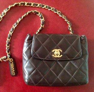 Chanel flap bag marron gold
