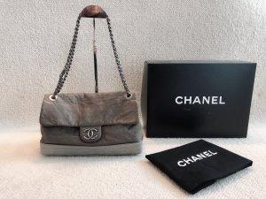 Chanel Flap Bag Tasche taupe grau