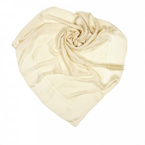 Chanel Scarf white silk