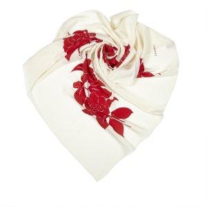 Chanel Scarf white silk