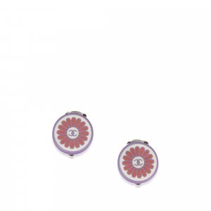 Chanel Flower CC Clip on Earrings