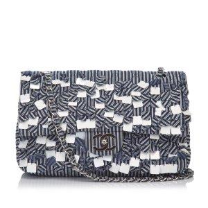 Chanel Fringe Cotton Flap Shoulder Bag