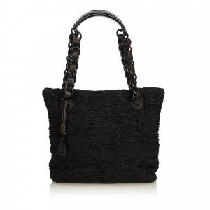Chanel Borsa larga nero Pelliccia