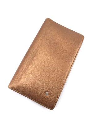 Chanel Portefeuille doré-bronze