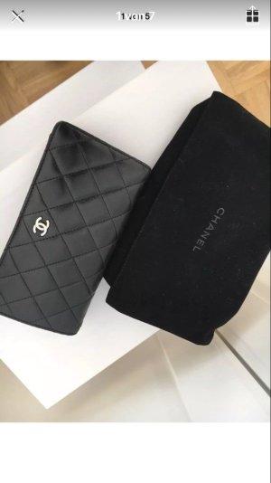 Chanel Portemonnee zwart-bordeaux Leer