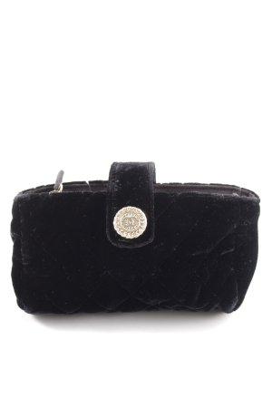 Chanel Portafogli nero motivo trapuntato elegante