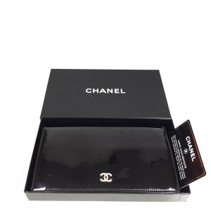 Chanel Portemonnee zwart-zilver