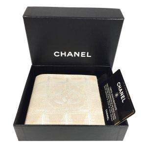 Chanel Portemonnee beige-licht beige Gemengd weefsel