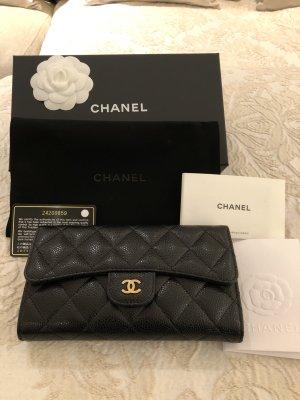 Chanel Geldbörse schwarz orginal