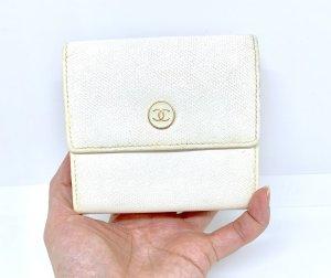 Chanel Cartera crema-blanco puro