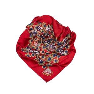 Chanel Sjaal rood Zijde