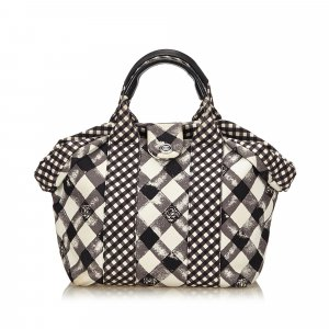 Chanel Gingham Tote Bag