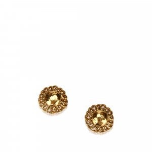 Chanel Gold-Tone Clip On Earrings