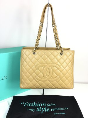 Chanel Grand Shopper Tote GST in Beige Goldhardware