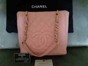 Chanel Grand Shopping Tote Leder rosa