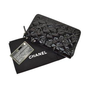 Chanel Portefeuille noir-argenté