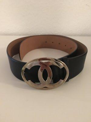 Chanel Leather Belt black leather