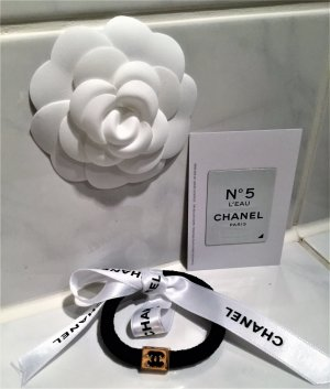 Chanel Haargummi,Haarschmuck Neu Farbe Schwarz/Gold