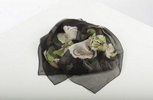 Chanel Halstuch schwarz