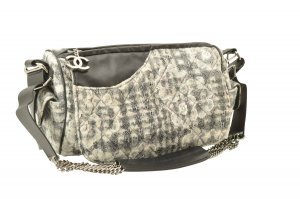 Chanel Handbag grey textile fiber
