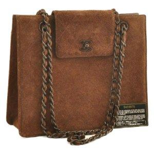 Chanel Handbag brown suede