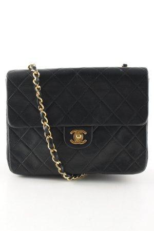 Chanel Handtas zwart quilten patroon klassieke stijl