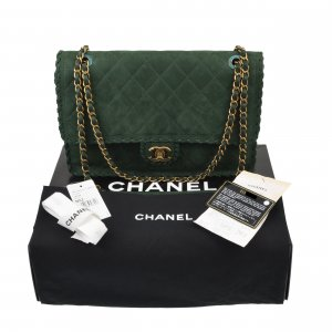 Chanel Happy Stitch Jumbo Flap Bag @mylovelyboutique.com