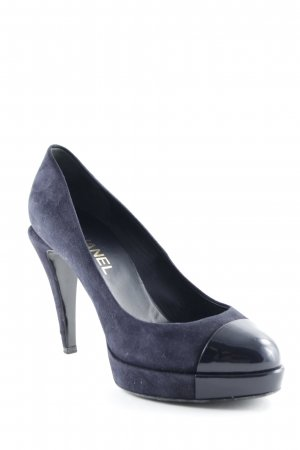Chanel High Heels dunkelblau Business-Look