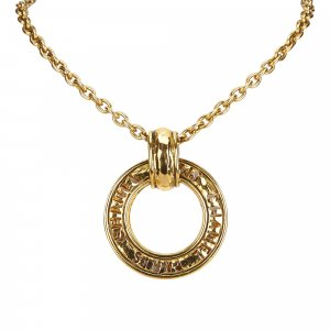 Chanel Hoop Pendant Necklace