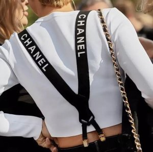 Chanel Suspenders black-white