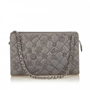Chanel Icon Symbol Embossed Shoulder Bag